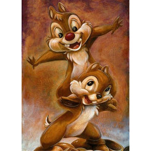 Diamond Painting-5D Full Round Drill Chip and Dale