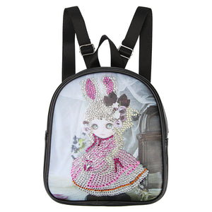 DIY Cartoon Doll Diamond Painting Children Kids Backpack Students Schoolbag