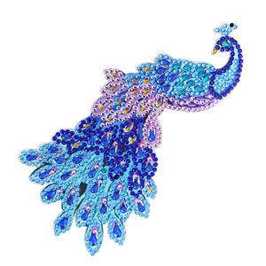 DIY Peafowl Diamond Painting Luminous Switch Stickers Kitchen Wall Decals