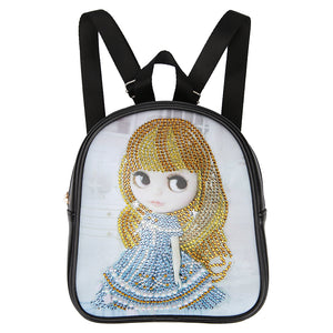 DIY Cartoon Doll Diamond Painting Students Backpack Children School Bags