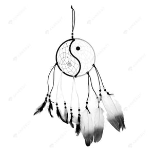 Dream Catcher-Taiji Catcher with feather wall or car hang #A decoration
