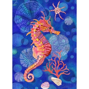 Diamond Painting-5D Full Round Drill Seahorse
