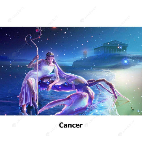 Diamond Painting-5D Full Round Drill Constellation Cancer