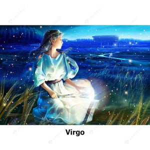 Diamond Painting-5D Full Round Drill Constellation Virgo