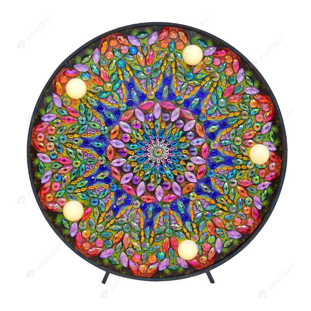 DIY LED Diamond Painting Full Special Shaped Drill Mandala Embroidery Light