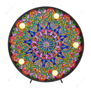 DIY Diamond Painting LED Lamp-Crystal Rhinestone Mandala Embroidery Light
