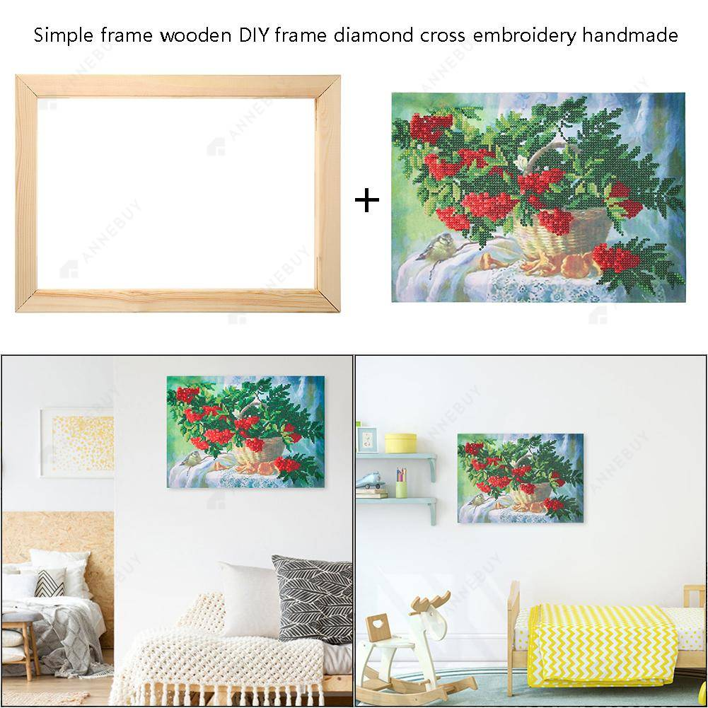 Wooden Photo Frame DIY Cross Stitch Diamond Painting Frames (350x250mm)