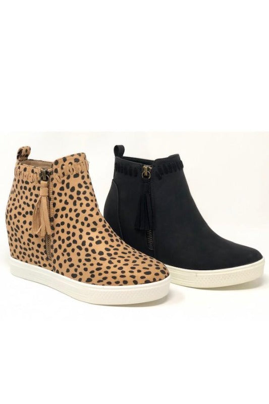 'TAYLOR' Wedge Sneaker - CHEETAH