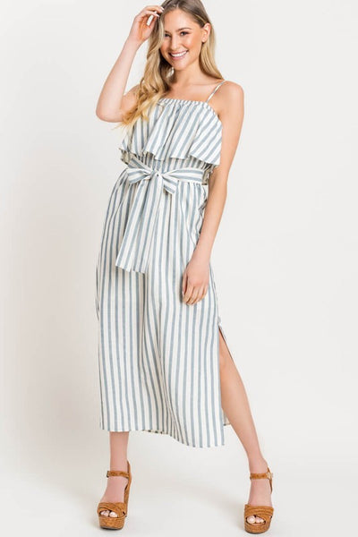 'MEGHAN' Stripe Midi Dress