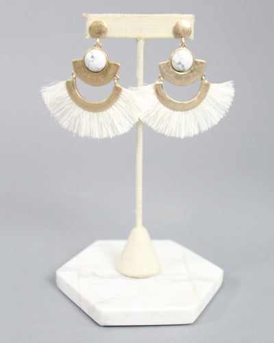 'ROBERTS' Fan Earrings