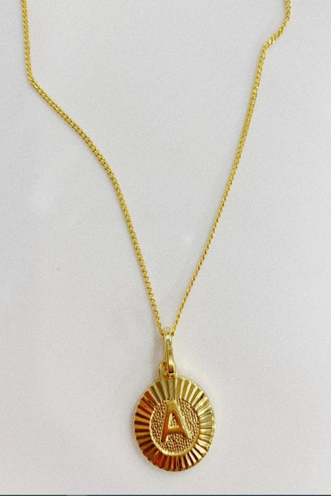 Bracha 'INITIAL MEDALLION' Necklace