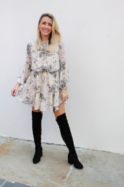 'RAE' Cream Floral Dress