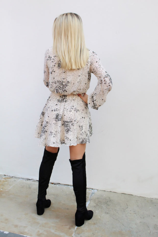 'RAE' Cream Floral Dress-FINAL SALE