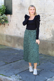 'MIA' Spotted Midi Skirt