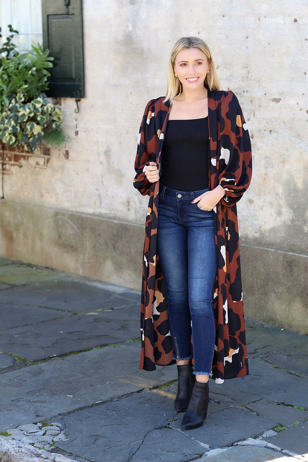 'WILLOW' Leopard Duster