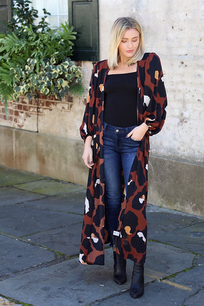 'WILLOW' Leopard Duster-FINAL SALE
