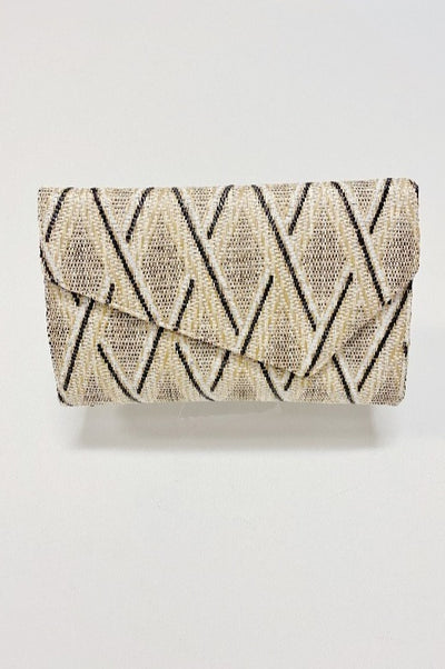'LANA' Envelope Clutch-NATURAL