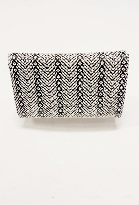 'LANA' Envelope Clutch-BLACK