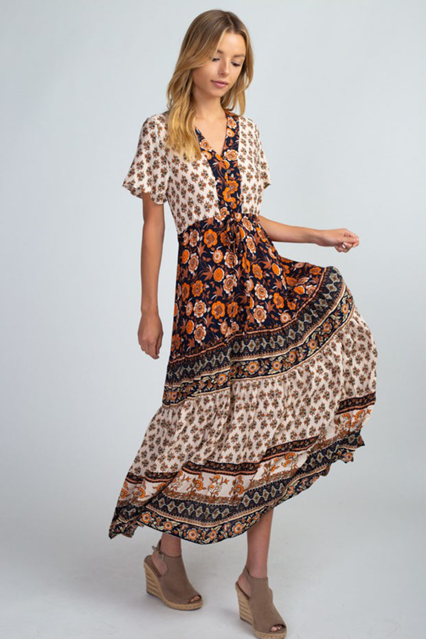 'MELODY' Boho Midi Dress - PREORDER Shipping 10/2