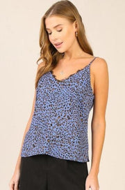 'TESSA' Lace and Leopard Tank