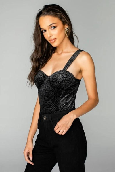 ANNIE Velvet Buddy Love Bodysuit-COBRA