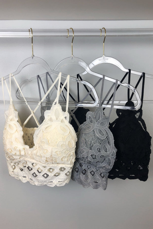 Lace Bralettes - MULTIPLE COLORS