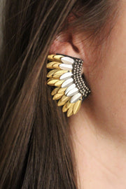 'CELESTE' EARRINGS - TWO-TONE METALLIC