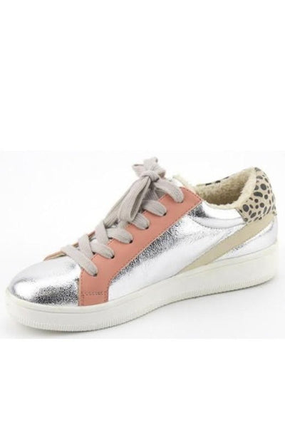 DALE Metallic and Leopard Sneaker