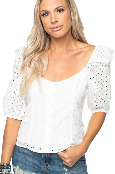 Buddy Love 'DEMI' Eyelet Top