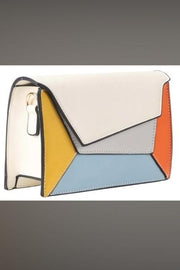 GEO Color Block Crossbody Clutch