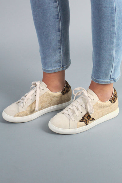 Metallic GG Star Sneakers - LEOPARD