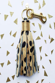 Large Calf-Hair Keychain - CHEETAH