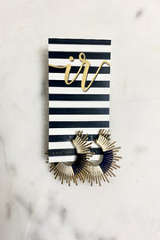 Mini Starburst Earring-NAVY
