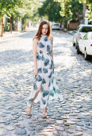 The Savannah Palm Maxi Dress