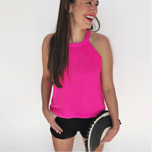 The Sullivan Tank - Hot Pink