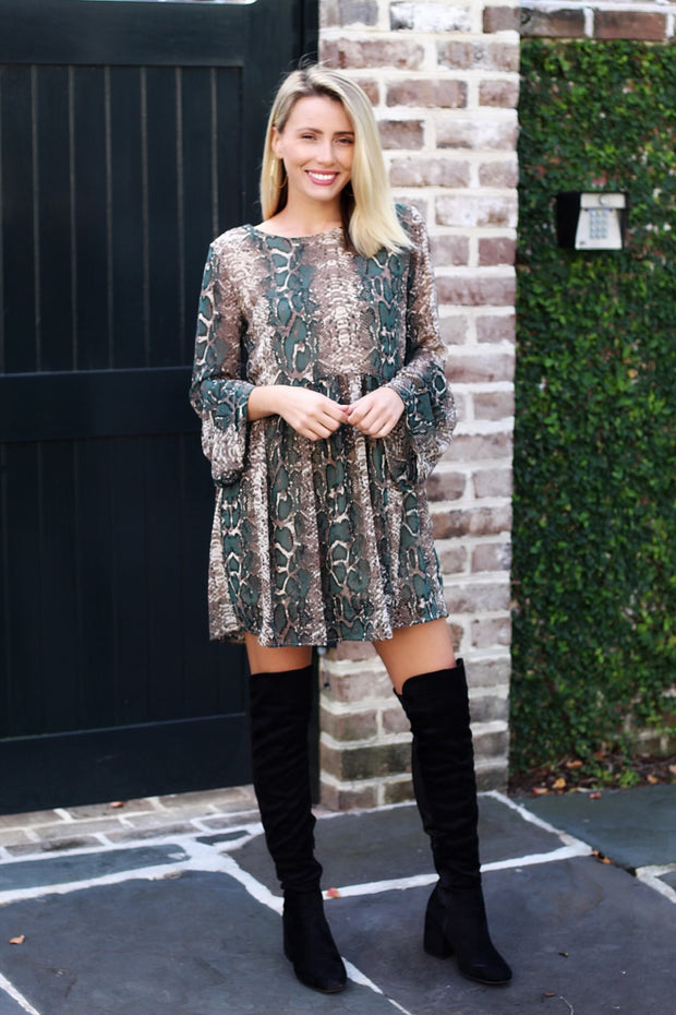 'STEPHANIE' Snake Tunic Dress - FINAL SALE