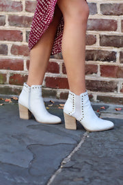 'EMERSON' Studded Bootie - ICE