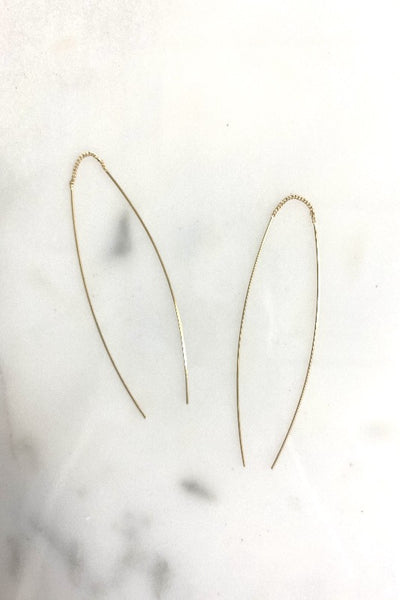 Gold Delicate Wishbone Earring