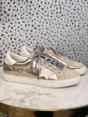 GG Star Sneakers - GOLD