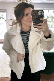 LUNA Fur Jacket- CREAM