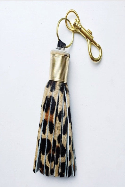 Large Calf-Hair Keychain - LEOPARD