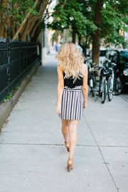 The Wallis Stripe Mini Skirt