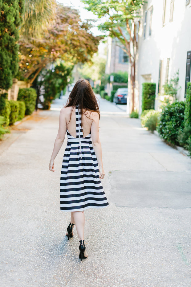 The Georgia Stripe Cocktail Dress