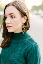 Calf-Hair Leopard Earrings