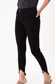 'JETT' High Rise Skinny Jeans-BLACK