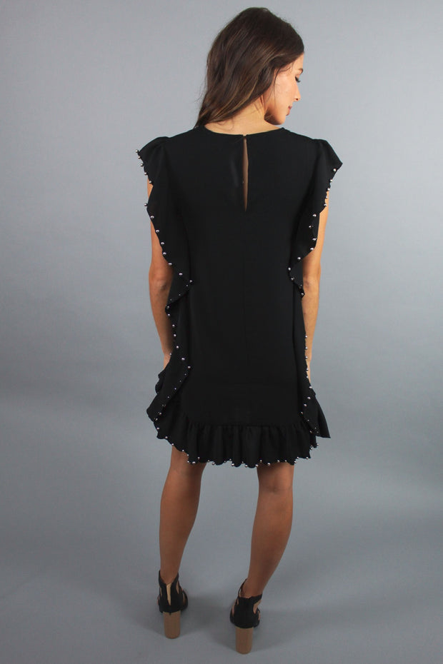 'KAYLA' Beaded Tunic Dress - BLACK