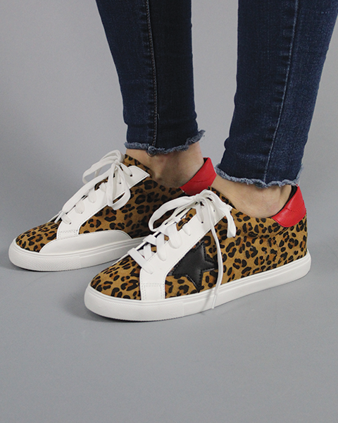 GG Star Sneakers - Leopard