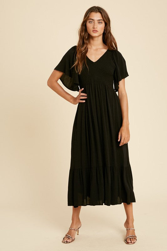 'MAX' Flutter Sleeve Dress