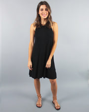 'MEREDITH' Black Tank Dress