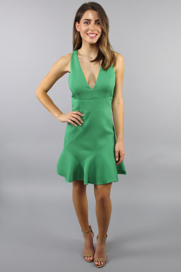 'MIA' Green Cocktail Dress